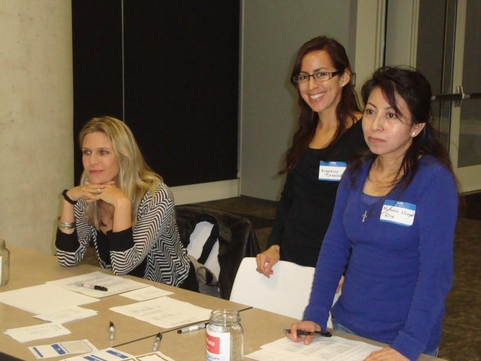 Our wonderful Career Development Committee volunteers at the Career Development Panel