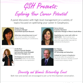 Geophysical Society of Houston: May 24th-Luncheon: Exploring Your Career Potential – Diversity and Women's Networking Event