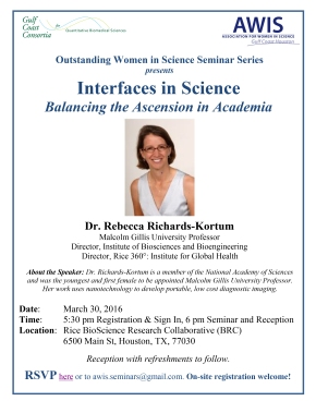 March 30: Dr. Rebecca Richards-Kortum