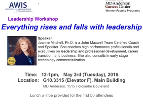 May 3: Leadership Workshop