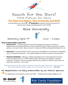 STEM Outreach Opportunity! April9!