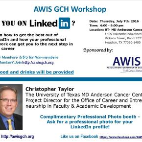 AWIS GCH Workshop: Are you on LinkedIn?