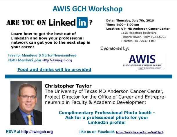 Flyer for July Linkedin workshop - print