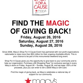 Macy's Shop for a Cause Benefiting AWIS GCH! Purchaseonline!