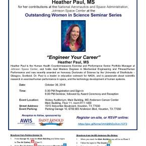 Outstanding Women in Science Seminar Series Presents HeatherPaul