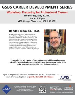 AWIS GCH and GSBS Career Development Workshop: Preparing for Professional Careers