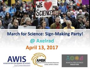 AWIS GCH and AMBR March for Science Sign MakingParty!