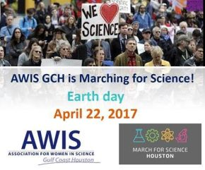 Walk with AWIS GCH at March For Science Houston