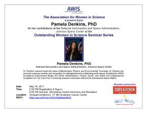 Outstanding Women in Science Seminar Series: Pamela Denkins, PhD