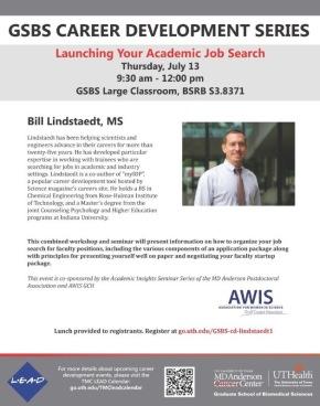 GSBS Career Development Series: Launching Your Academic Job Search