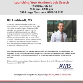 GSBS Career Development Series: Launching Your Academic JobSearch