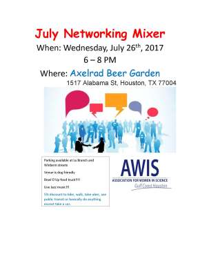 July Monthly Networking Event