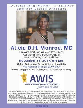 Outstanding Women in Science Seminar Series Presents Dr. Alicia D.H. Monroe!