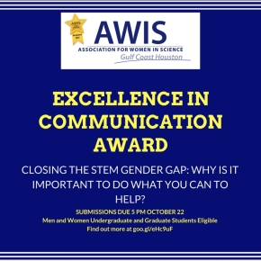 AWIS GCH Excellence in Communication Award
