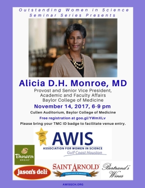 Outstanding Women in Science Seminar Series Present Dr. Alicia DH Monroe!