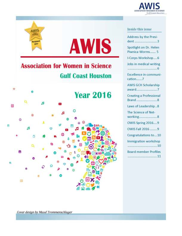 AWIS GCH 2017 newsletter cover