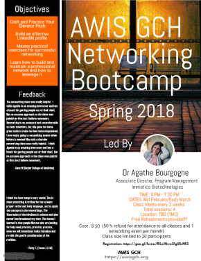 Register today for the Spring 2018 NetworkingBootcamp!