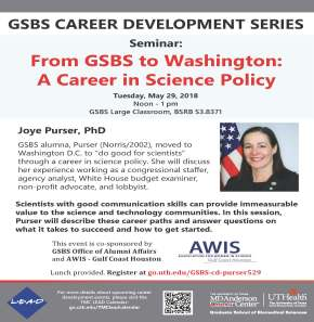 From GSBS to Washington: A Career in Science Policy
