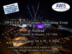 AWIS GCH 1st Tuesday Networking Event atAxelrad!