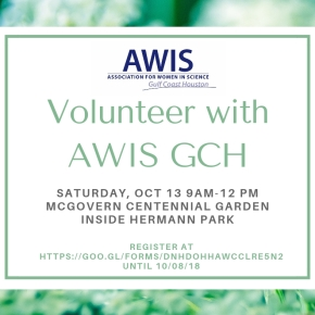 Volunteer with AWIS GCH at Hermann Park McGovern CentennialGardens