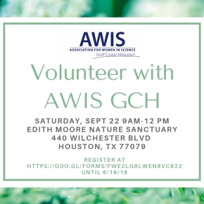 Volunteer with AWIS GCH at Edith Moore NatureSanctuary