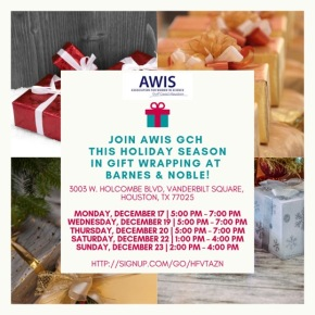 AWIS GCH Fundraiser: Gift Wrapping at Barnes & Noble