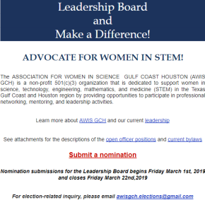 Executive Board Call for Nominations