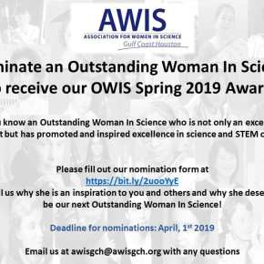 Accepting Nominations for Spring 2019 OWIS Award