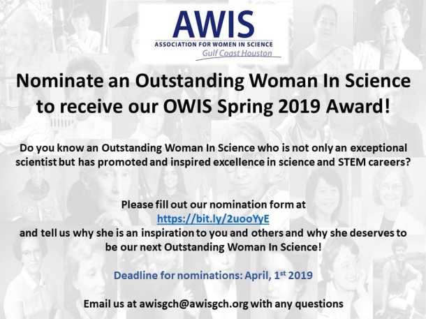 OWIS Spring 2019 nom