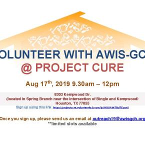 Volunteer with AWIS-GCH @ Project Cure