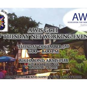 AWIS GCH 1st Tuesday Networking Event December 2019
