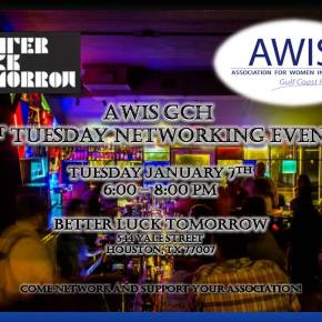 AWIS GCH 1st Tuesday Networking Event January 2020!